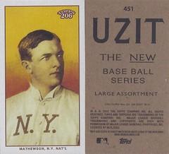 2002 / 2003 - Topps 206 Mini Baseball Card / Series 3 / Uzit - CHRISTY MATHEWSON / REP #451 (Pitcher) (Baseball Hall of Fame 1936) (New York Giants)