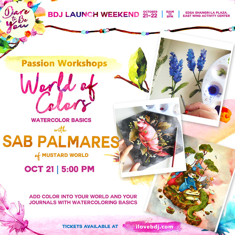 BDJ FAIR 2018_PLANNER LAUNCH WEEKEND_PASSION WORKSHOP_WATERCOLOR FOR BEGINNERS