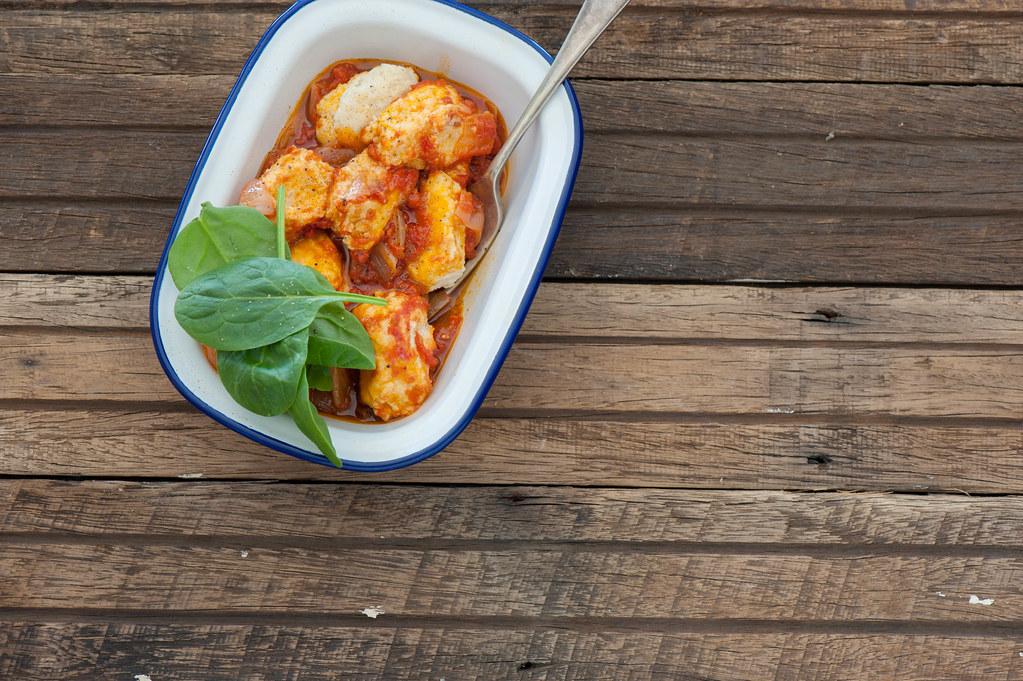 Ricotta Gnocchi in Tomato Sauce-