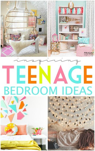 Best Ideas For Diy Crafts : Inspiring Teenage Bedroom Ideas on Frugal Coupon Living. Creative room ideas for...