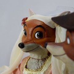 2017 Robin Hood and Maid Marian Designer Doll Set - Disney Store Purchase - Covers Off - Closeup Right Side View of Maid Marian