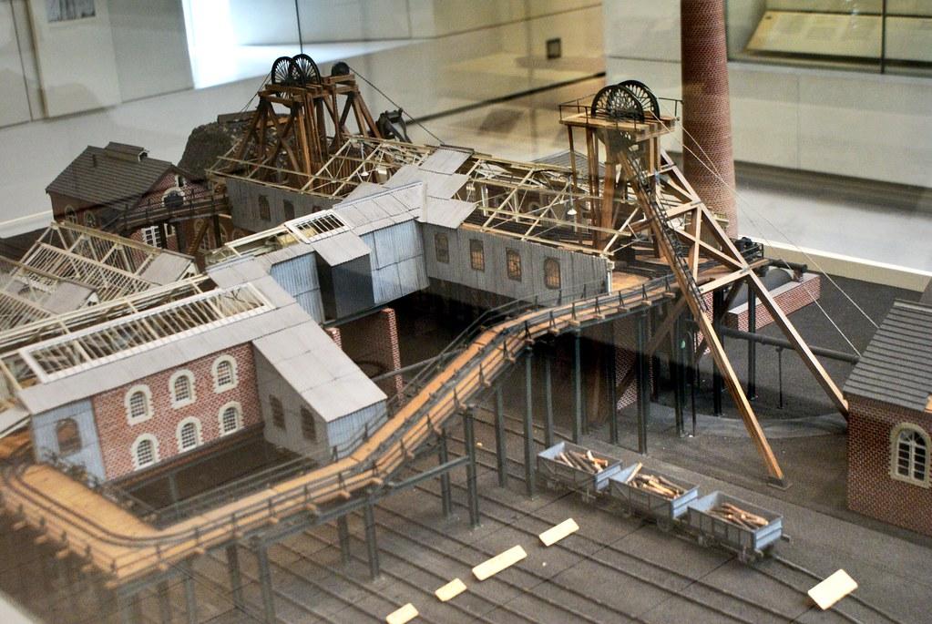 Maquette de mine du Musée National d'Ecosse à Edimbourg