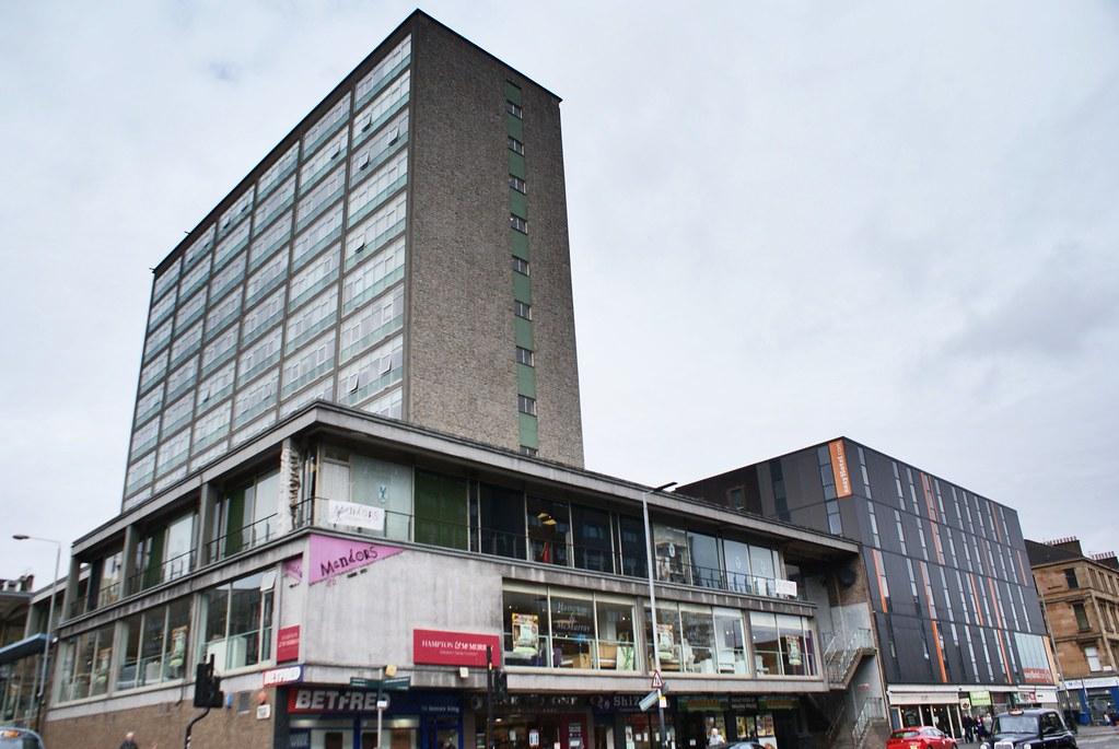 Paysage urbain du centre ville de Glasgow.