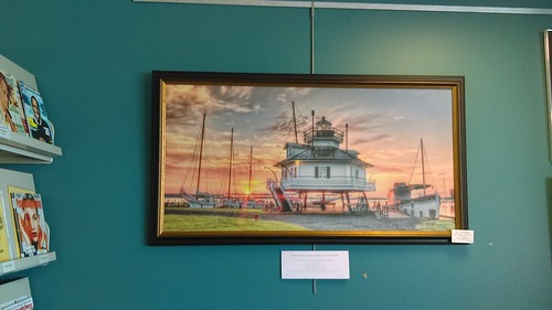 Calvert Library posted a photo:	Bill Conway's artwork at the Southern Branch.