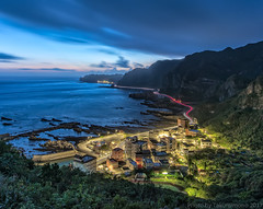 Taiwan Nanya fishing village Sunrise
