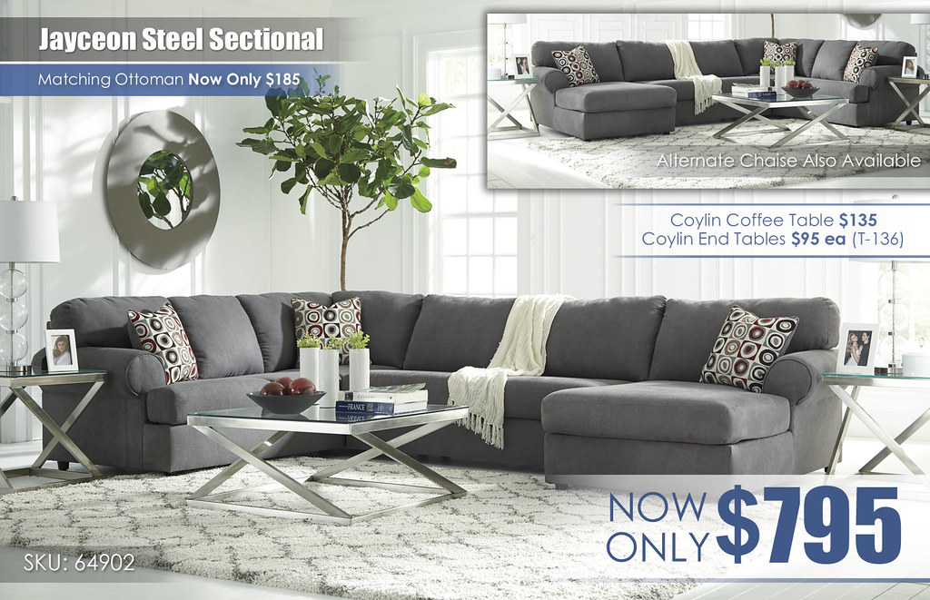 Jayceon Steel Sectional 64902-66-34-17-T136