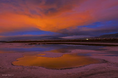 Night Reflection at Salt Pond
