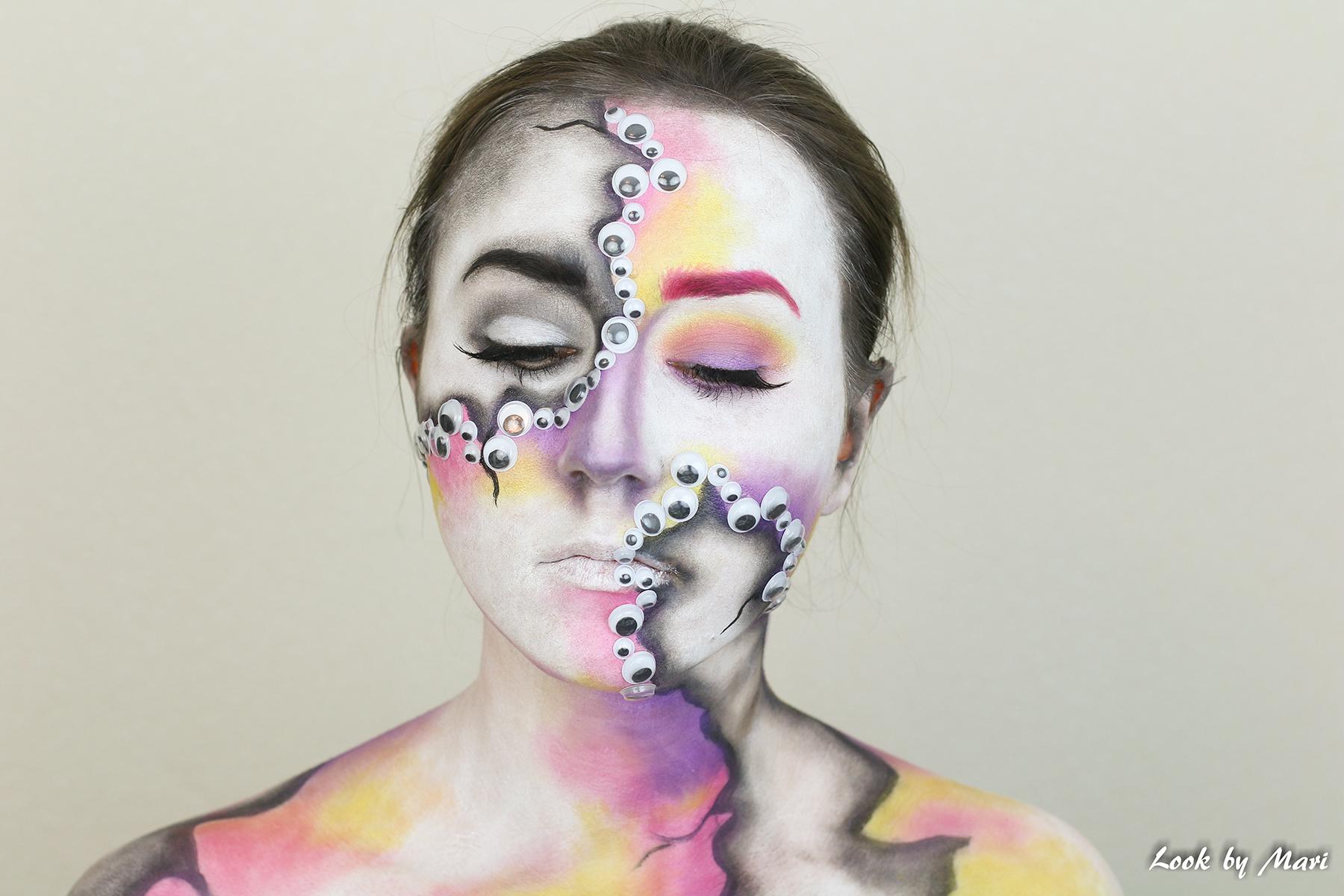 24 halloween meikki asu ideat 2017 värikäs pelottava tutoriaali video blogi