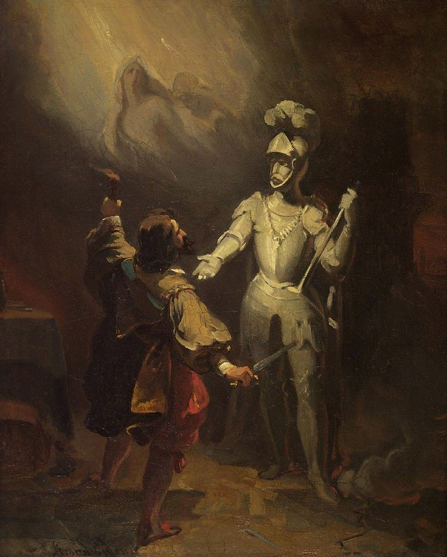 Alexandre-Évariste Fragonard - Don Juan and the statue of the commander
