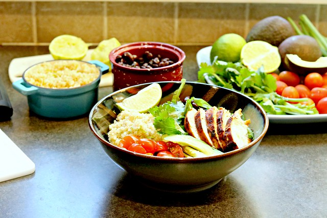 Honey Chipotle Chicken Bowls with Lime Quinoa front