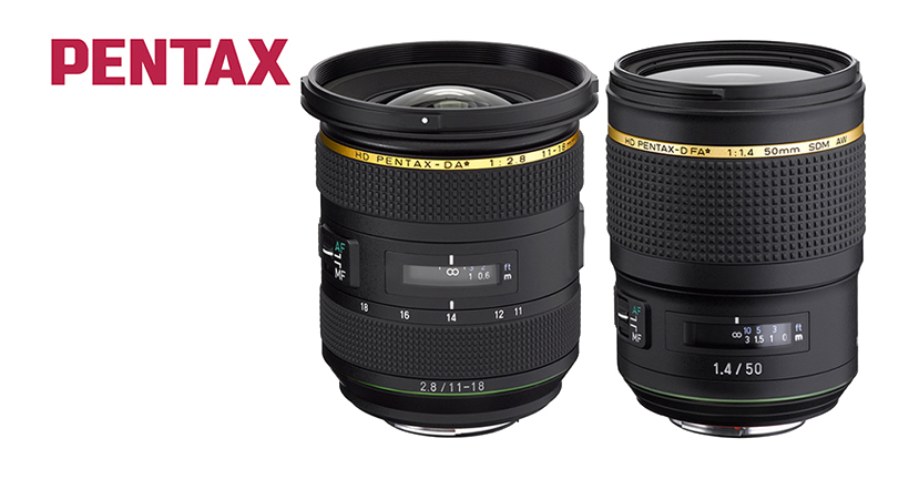 HD PENTAX-D FA*50mm F1.4 SDM AW and the HD PENTAX-DA*11-18mm F2.8