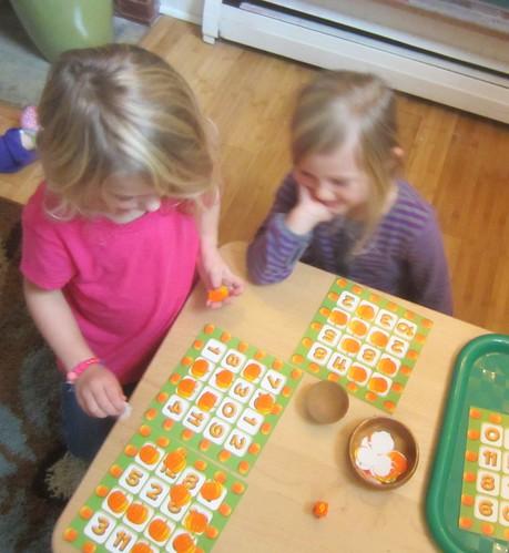 pumpkin addition BINGO
