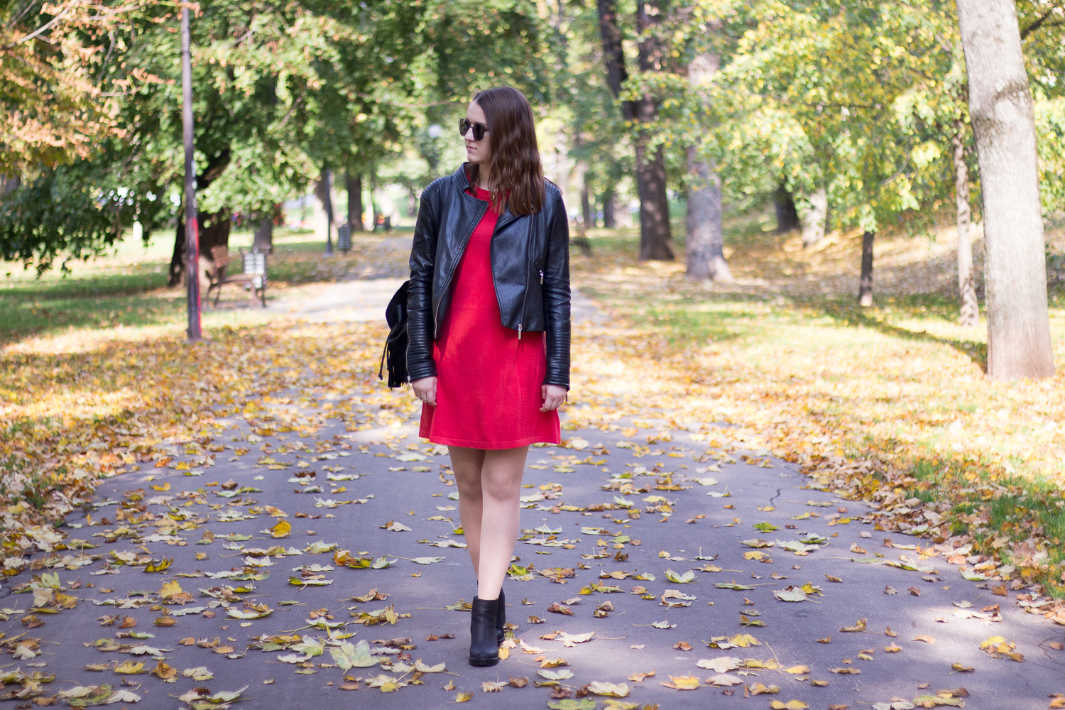 red primark sweater dress