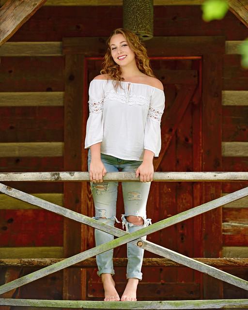 Michaela on the Veranda