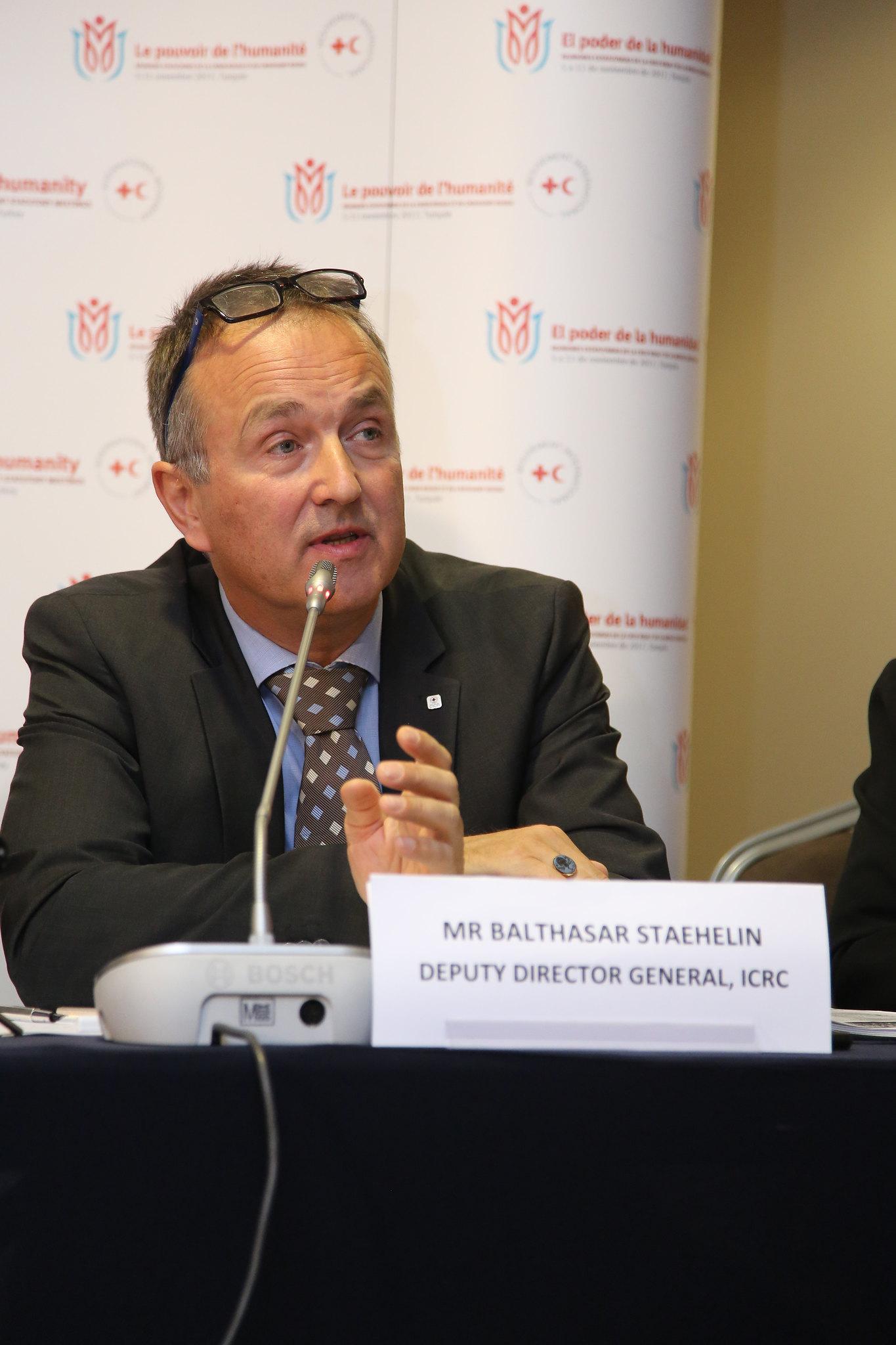 ICRC Genel Sekreter Müdür Yardımcısı Balthasar Staehel