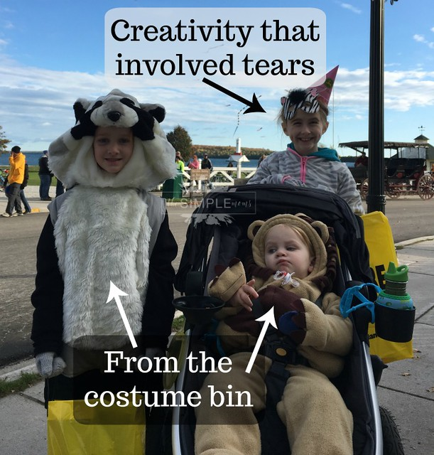 last minute Halloween costumes from The SIMPLE Moms creativity and the costume bin