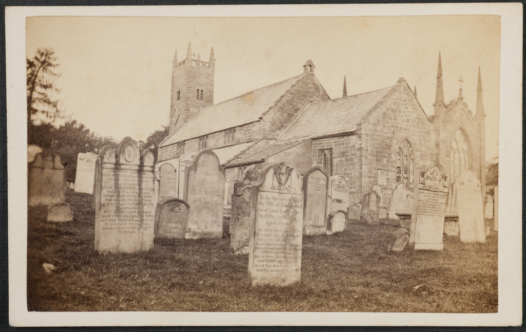 Early Carte De Visite Of Wetheral Church And Graveyard