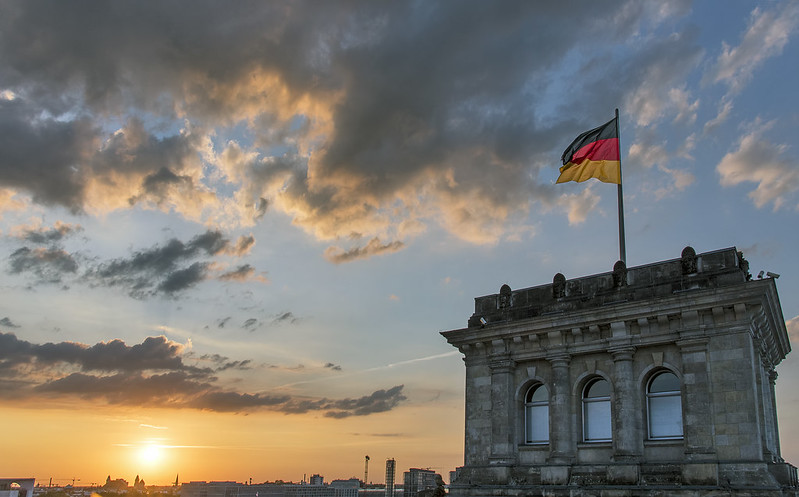 Sunset from the Reichstag building roof