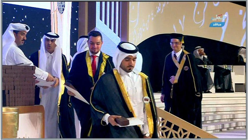 طلاب جامعة قطر