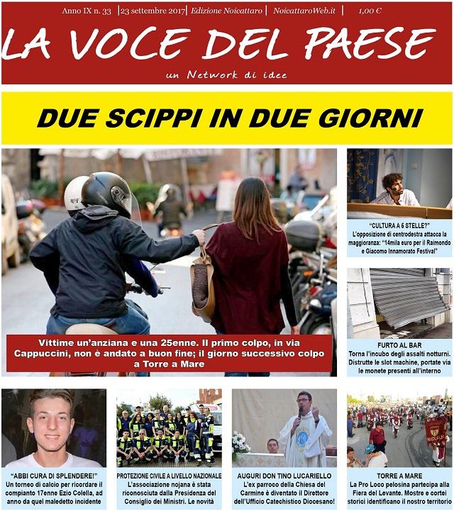 Noicattaro. Prima pagina n. 33-2017 intero