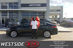 Happy Anniversary to Matthew on your #Kia #Optima from Rubel Chowdhury at Westside Kia!
