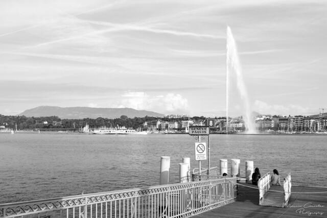My Lovely Geneva  - Lake Front - D50_1510_b&w