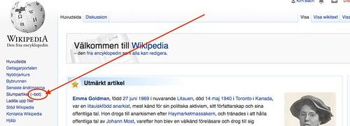Svensk Wikipedia - Slumpartikel