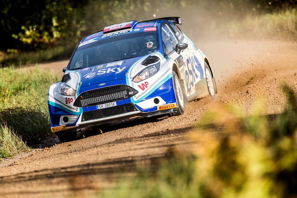 08 Habaj Lukaszand Dymurski Daniel, Rallytechnology, Ford Fiesta R5 action during the 2017 European Rally Championship ERC Liepaja rally,  from october 6 to 8, at Liepaja, Lettonie - Photo Thomas Fenetre / DPPI
