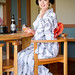 Maiko Mikako from Gion Kobu getting some refreshment on a hot summer day