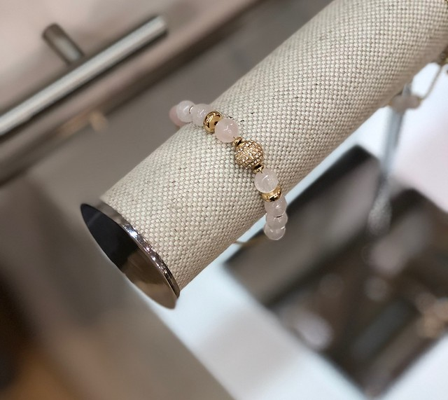 LOFT Pave Beaded Slider Bracelet in gold