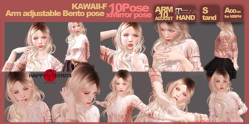 [HD]Arm adjustable Bento pose kawaii-F