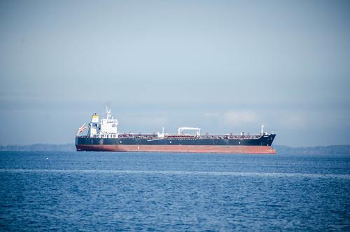 Ships on Samish Bay