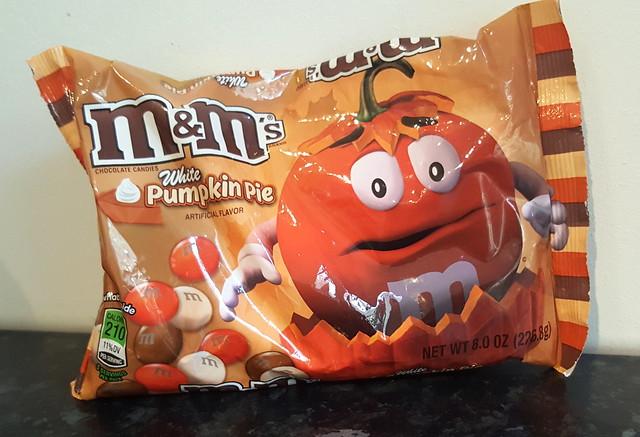 M&M's White Pumpkin Pie