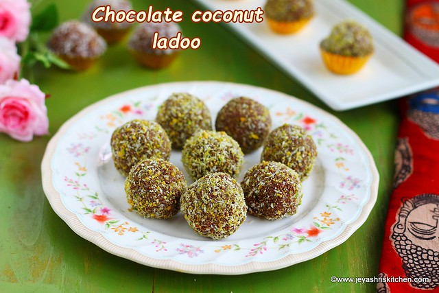 Chocolate coconut ladoo