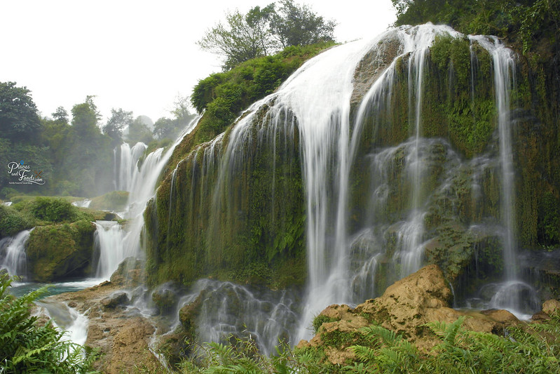 detian waterfall close up