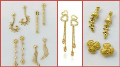 Latest Designer Gold Earring & Top Designs For Girls - Latest Fashion Designs