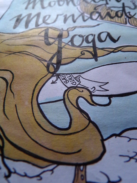 Inktober 2017, Day 4: Mermaid Yoga - Detail | Hedgefairy https://hedgefairy.wordpress.com