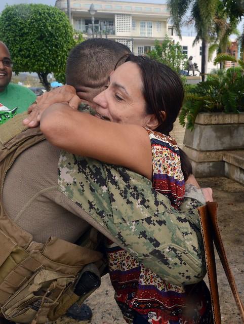 Coast Guardsmen deliver FEMA supplies to Hurricane Maria-affected areas of Puerto Rico