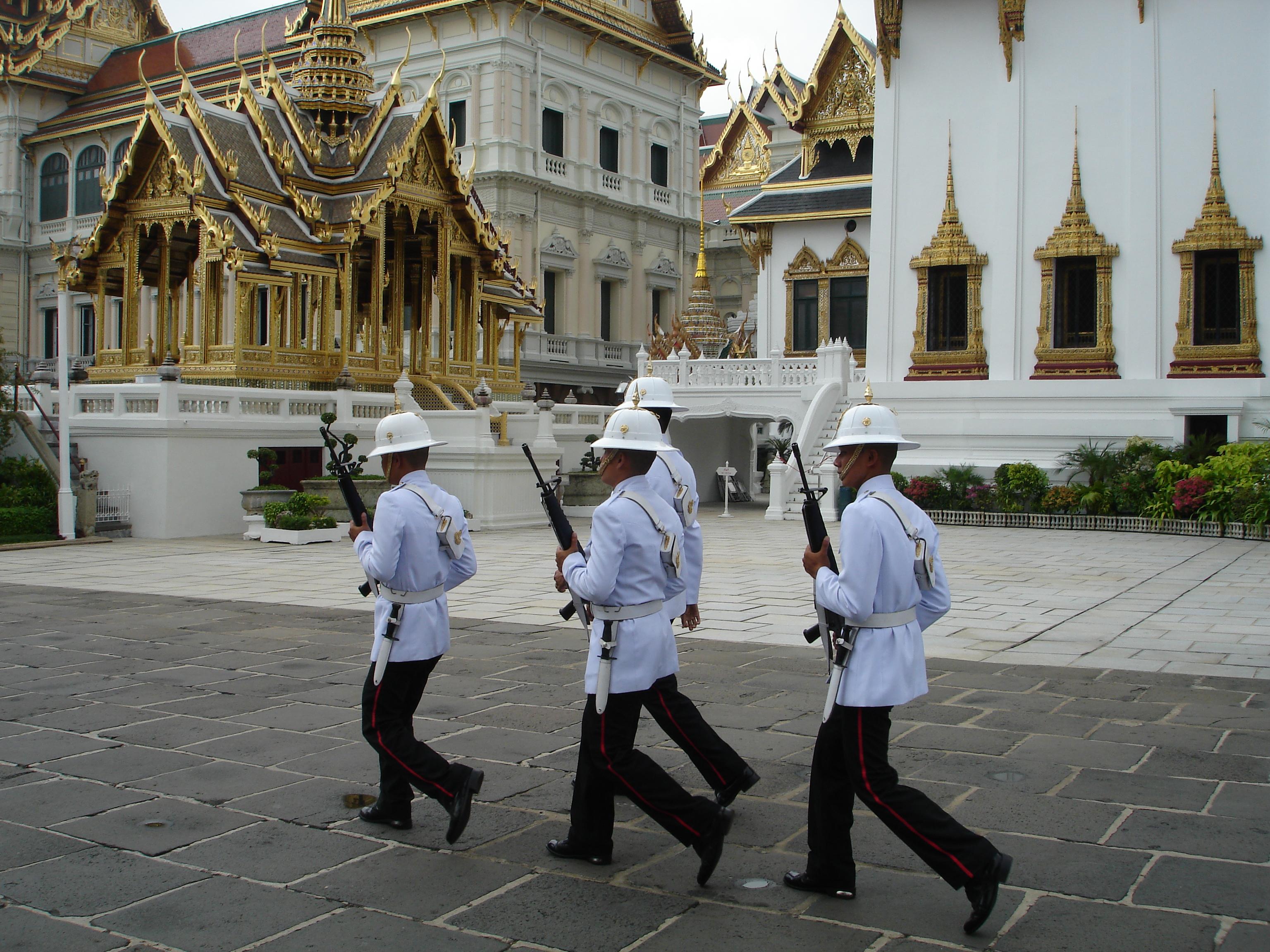 Royal Guard at the Grand Palace in Bangkok. Photo taken by Mark Jochim on May 17, 2006.