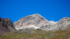 Byliśmy tam na tej górze. Marjanishvili 3555m , widok z obozu 2700m.