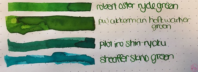 Ink Shot Review @RobertOsterInk Ryde Green @MilligramStore 5