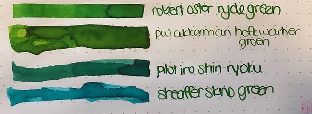 Ink Shot Review @RobertOsterInk Ryde Green @MilligramStore 5