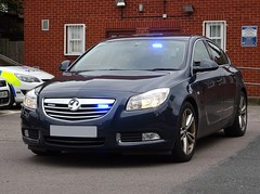 Warwickshire Police Force Ops Tasking Unmarked Vauxhall Insignia Traffic Car, Coleshill Police Station.