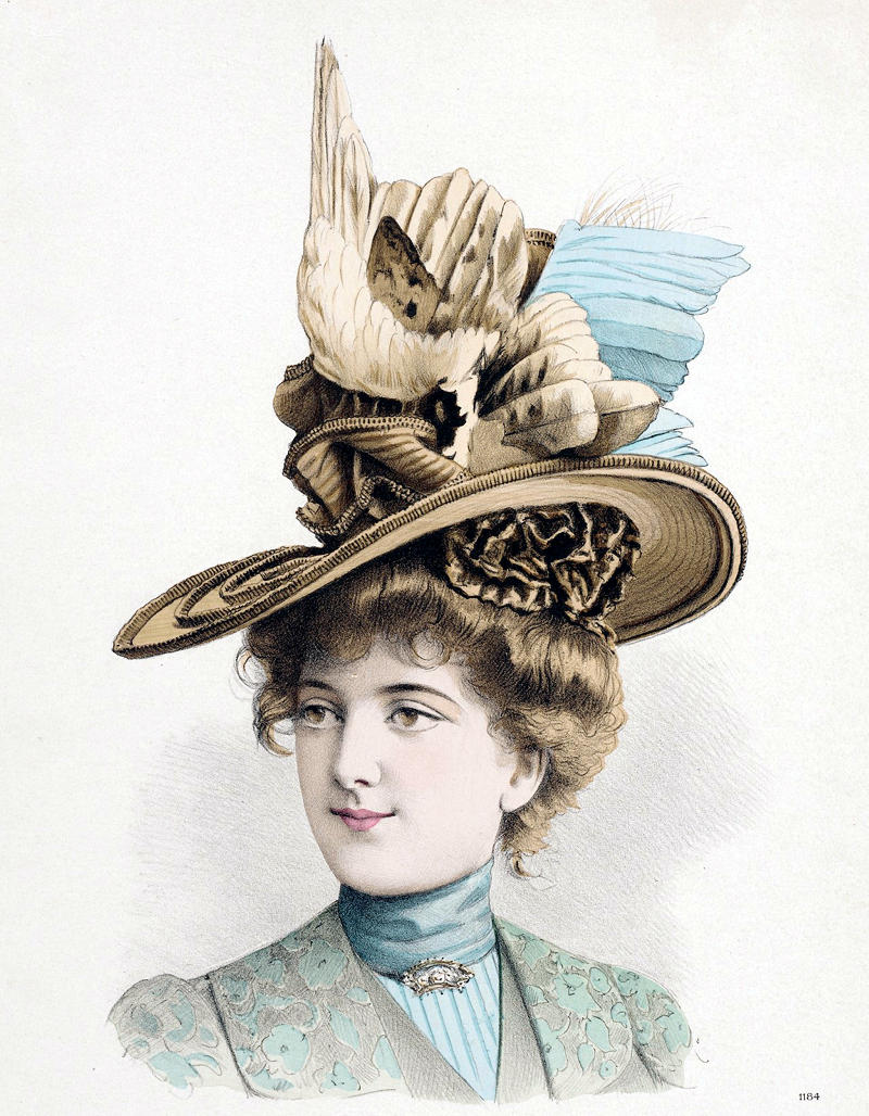 1899 Millinery Print. France