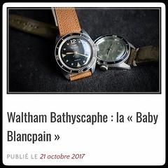 Nouvel article sur le blog : après les #BabyPanerai, il est temps de découvrir les #BabyBlancpain !