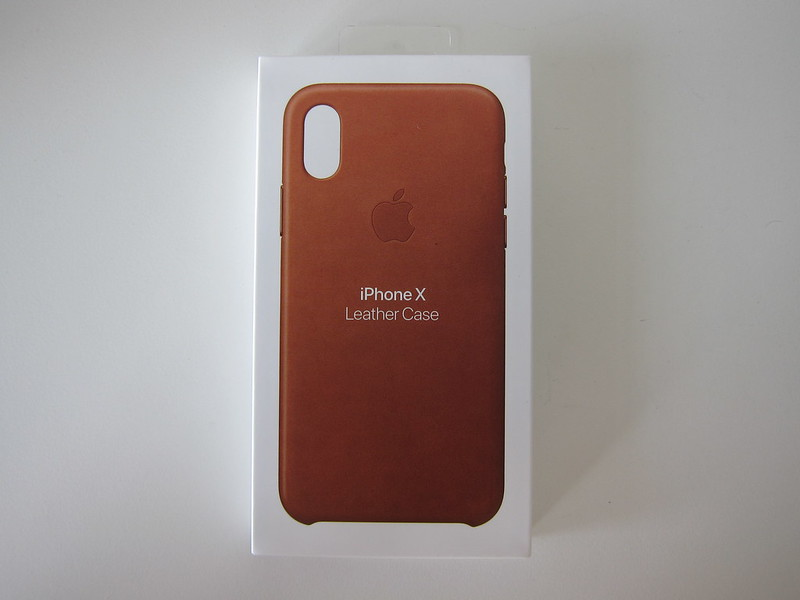 Apple iPhone X Leather Case - Box Front