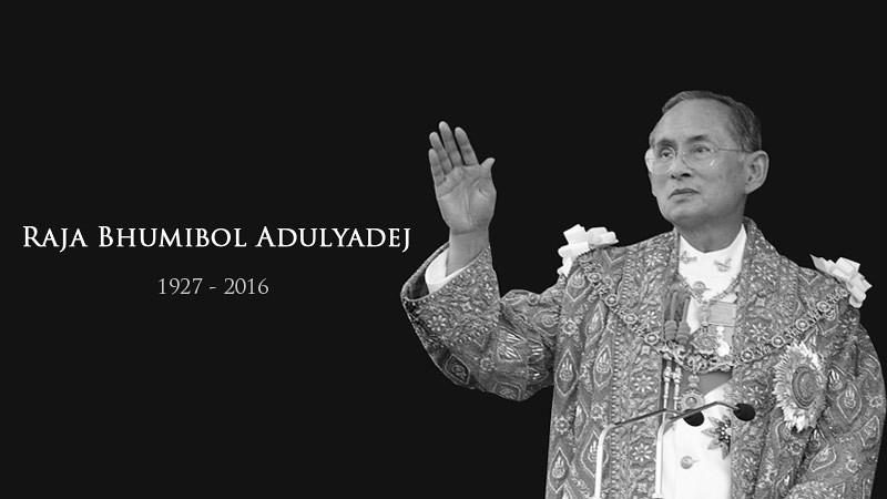 Raja Bhumibol Adulyadej, wafat pada 13 Oktober 2016, pukul 15.52 waktu setempat.