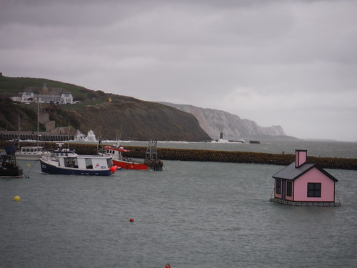Folkestone Triennial: Richard Woods - Holiday Home [Outer Harbour], and the White Cliffs of...