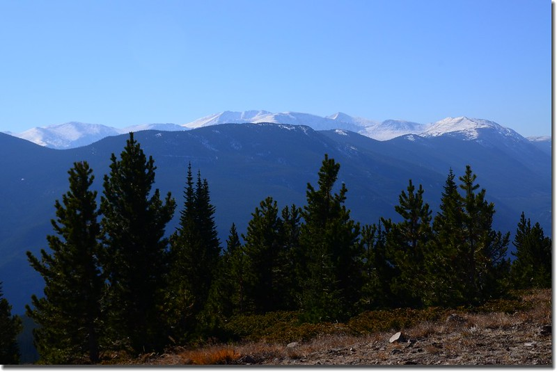 Looking South at Mount Evans & Bierstadt from the trail near 10,600' (1)