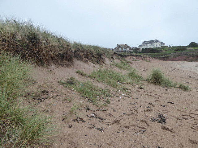 Leas Foot Sands, back of beach after storm Ophelia 4